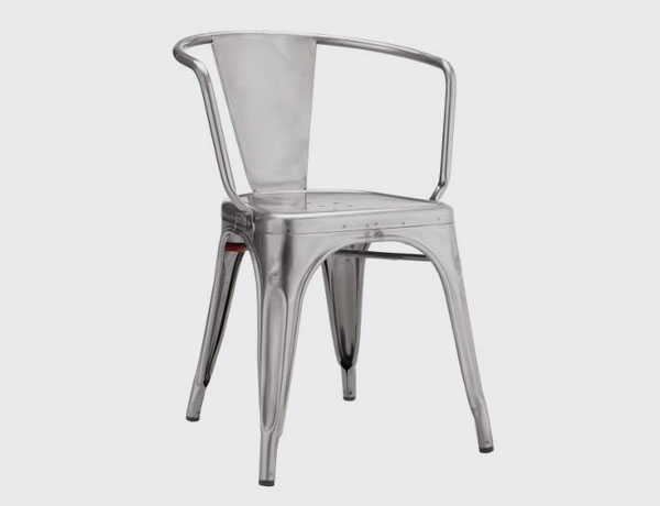 ARMCHAIR A56 RAW STEEL VARNISHED            (00454)