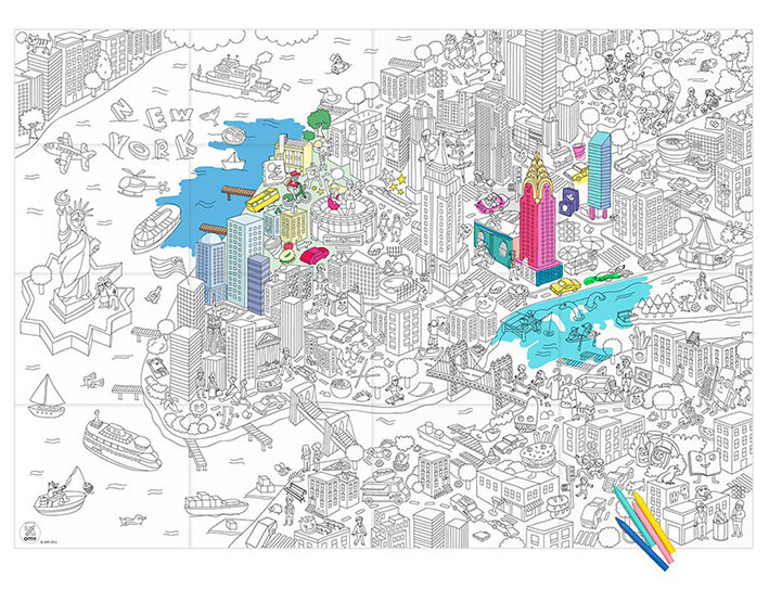 COLORING XXL NEW YORK CITY 180X100